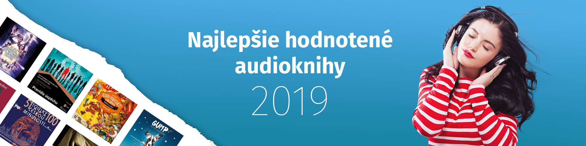 Najlepšie hodnotené audioknihy 2019