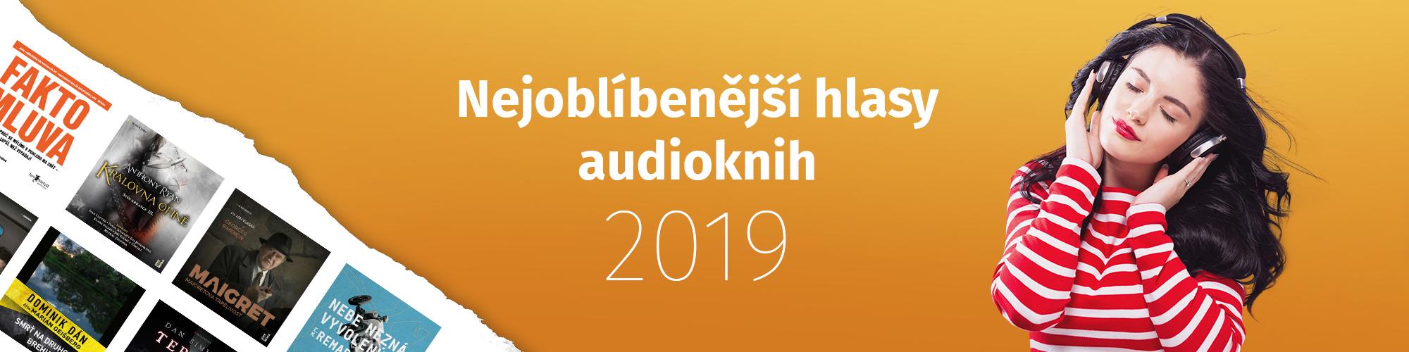 Nejoblíbenější vypravěči audioknih roku 2019