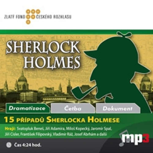 Audiokniha 15 případů Sherlocka Holmese - Různí autoři - Josef Abrhám