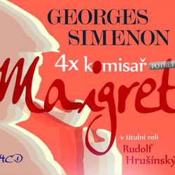 Audiokniha 4x komisař Maigret potřetí - Georges Simenon - Jaroslava Adamová