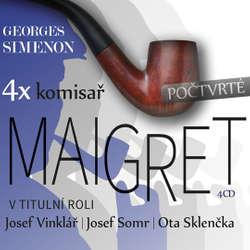 Audiokniha 4x komisař Maigret počtvrté - Georges Simenon - Barbora Hrzánová