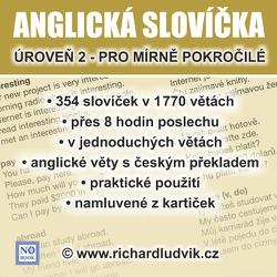 Anglická slovíčka - úroveň 2 pro mírně pokročilé - Richard Ludvík (Audiobook)