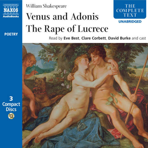 Audiobook Venus & Adonis, The Rape of Lucrece (EN) - William Shakespeare - David Burke