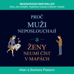 Audiokniha Proč muži neposlouchají a ženy neumí číst v mapách - Allan Pease - Jan Kolařík