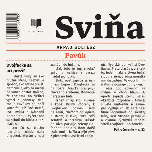 Audiokniha Sviňa - Arpád Soltész - Peter Kočiš
