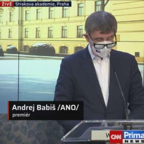 Tisková konference premiéra Andreje Babiše po jednání vlády