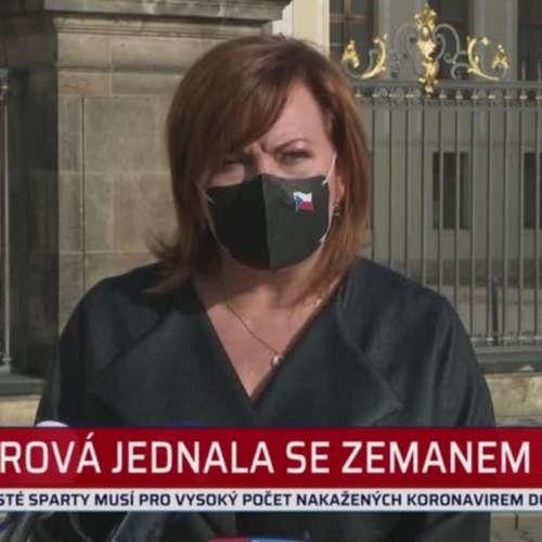 Alena Schillerová po jednání s prezidentem Zemanem
