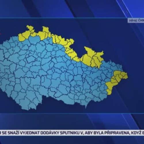 Sever Čech pokryje sníh (zdroj: CNN Prima NEWS)
