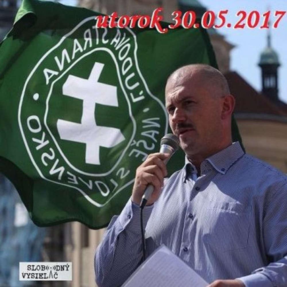 V prvej linii 2017 05 30 Navrh na zru enie strany Kotleba SNS