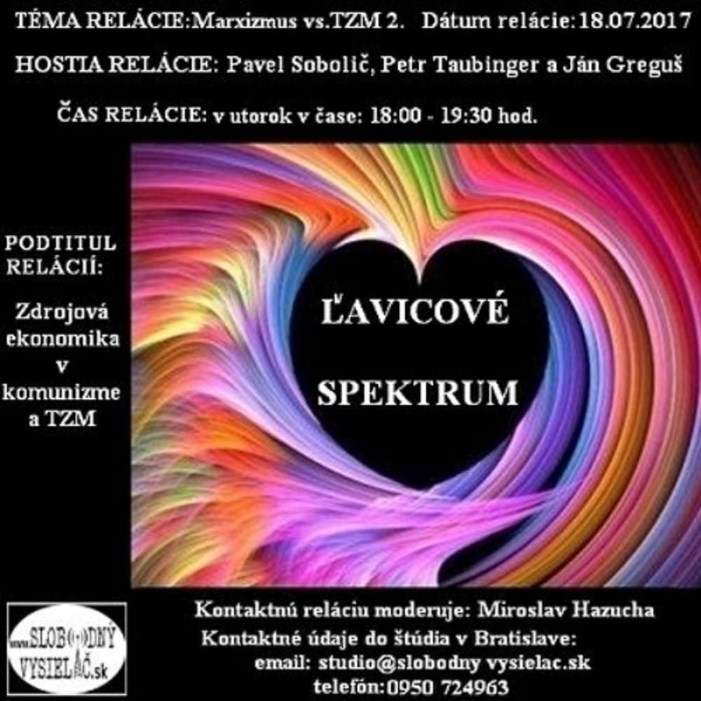 avicove spektrum 40 2017 07 18 Marxizmus vs TZM 2