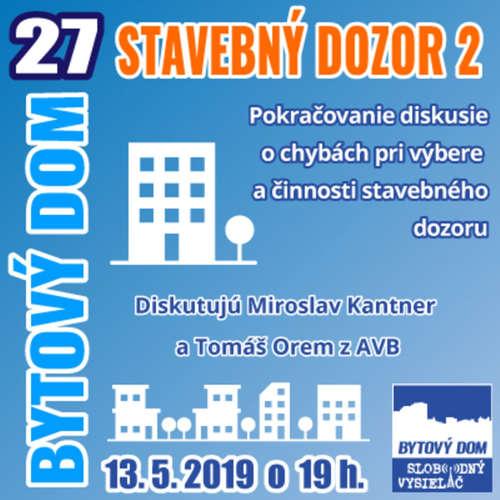 Bytový dom 27 - 2019-05-13 Stavebný dozor 2