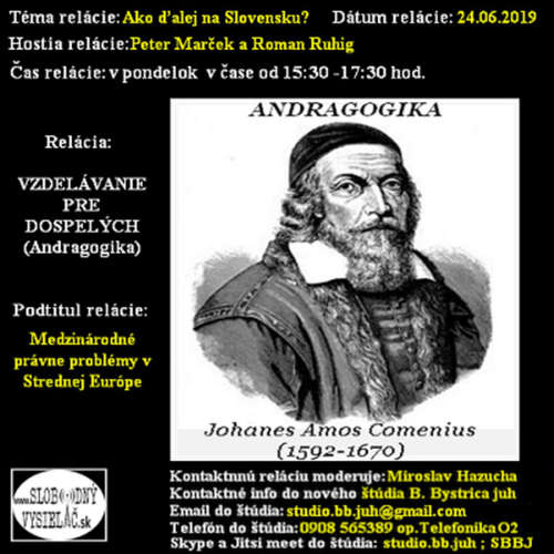 Vzdelávanie pre dospelých 150 - 2019-06-24 Ako ďalej na Slovensku ?
