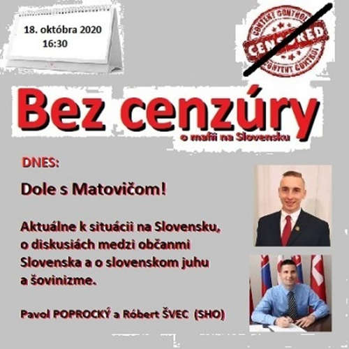 "Bez cenzúry 168 - 2020-10-18 ""DOLE S MATOVIČOM"""