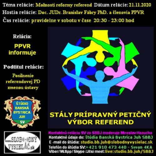 Prípravný petičný výbor referend 10 - 2020-11-21 Možnosti reformy referend