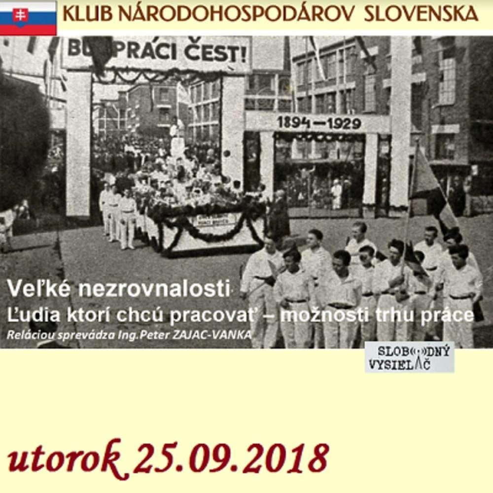 9ee9ca4c9a Klub narodohospodarov Slovenska 19 - 2018-09-25 Veľke nezrovnalosti    Ľudia
