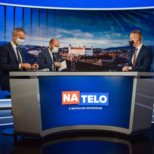 Richard Raši (Hlas-SD) a Jaroslav Naď (OĽANO)