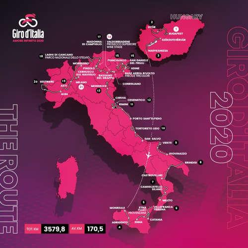 #202 Giro so štartom v Maďarsku, bohaté na časovky a majestátne stúpania