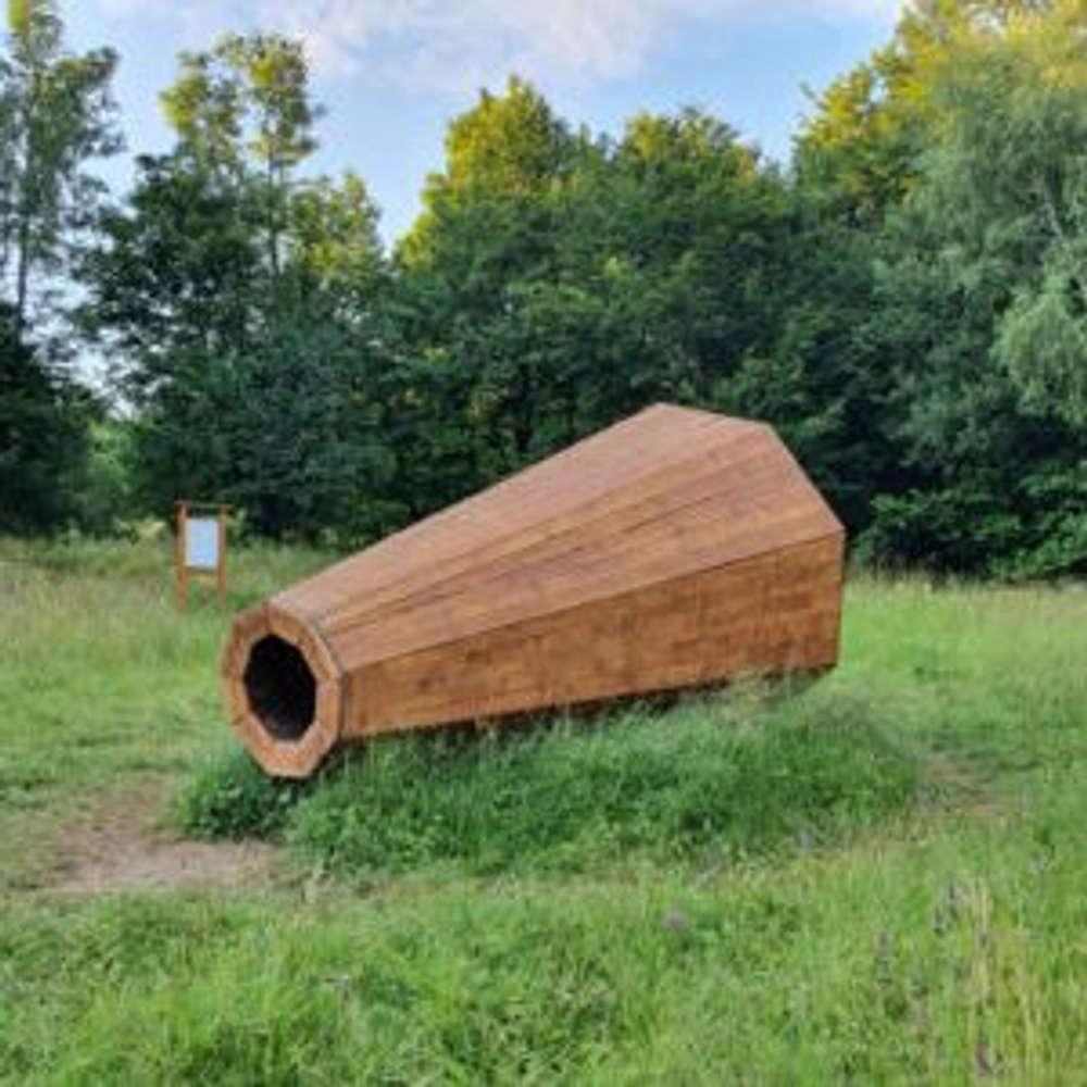 Slanské vrchy neďaleko Prešova zdobí veľké drevené čudo, ktoré znásobuje zvuky lesa